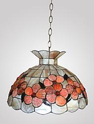 80W Chic Tiffany lumière pendante avec Colorful Nature Matériel de Shell Integrated Shade Down in Feature de la Couronne