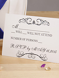 Elegant White Response Card - Set of 12