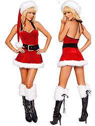 Menina das mulheres estilo slim-encaixe Hot Christmas Costume