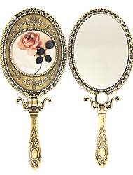 """7 """"da pintura da flor de bronze antigo estilo de maquiagem Espelho"""