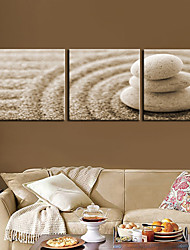 Toiles tendues Art Still Life Cobblestone Set de 3