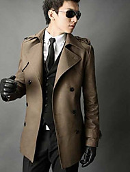 Trench Coat Quente Slim Men