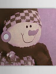 Vacances cadeau de Noël Peinture à l'huile prêt à accrocher bébé ours prêt à accrocher