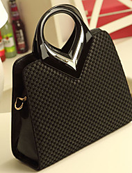 Lady Fashion High Quality Genuines Leather Tote(Black)