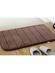 Bath Mat Memory Foam Light Brown Stripe 20 x 31""