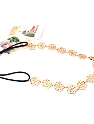 Goldene hohle-Out Rose Elastische Stirnband