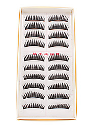 10 Pairs Handmade Natural Fashion Long False Eyelashes Eye Lashes For Makeup