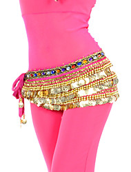 Fascinating Polyester Belly Dance Belt With 338 Coins For Ladies(More Colors)