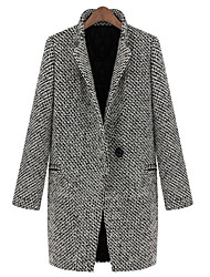 Mic Input High Quality Thicken Wool Coat