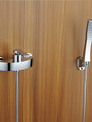 Contemporary Widespread Tub Faucet with Handshower
