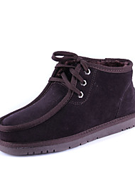 NaiShuNi Men'S Classic Leather Blended Snow Boots(Coffee)