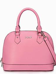 Rosa Cruz couro Stripe Shell Bag NUCELLE da Mulher