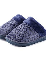Modern Solid Dark Blue Men's Slide Slipper Non Skid