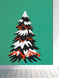 Árbol de Navidad con la nieve pegatinas de pared