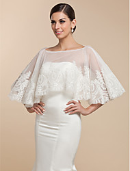 Wedding  Wraps Capelets Sleeveless Lace White Wedding / Party/Evening Pullover