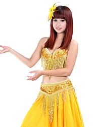 saias desempenho poliéster barriga dança fascinantes para senhoras (mais cores)