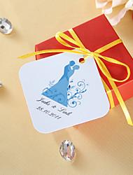 Étiquettes de faveur personnalisées - Jeunes mariés (ensemble de 36)