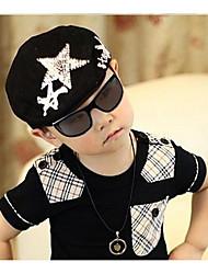 Boy Star Pattern Beret Hat