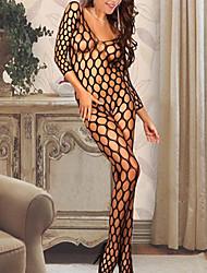 Для женщин Ультра-секси Ночное белье Однотонный Шифон Женский