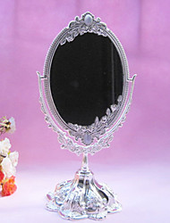 "10.5""Resplendent Flower Style Metal Tabletop Mirror"