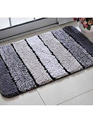 Bath Rug Grey Stripe 20 x 31""