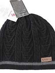KM-1177-01 Classic men's knitted hat-Black