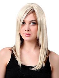 Capless Long High Quality Synthetic Mixed Color Straight Hair Wigs Side Bang