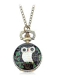 Femme Quartz Owl style Bande Bronze Marque-