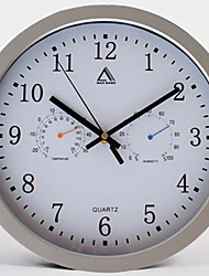 "12""Brief Style Mute Alarm Weather Clock"