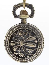 Masculino Relógio de Bolso Quartzo Banda Vintage Bronze Bronze Dourado
