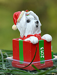 Cute Maltese Decorative Ornament Christmas Gift for Pet Lovers