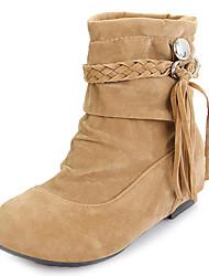 Suède talon plat Slouch Boots avec le gland (plus de couleurs)