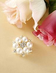 mariage décor perlé faux fleur de nacre avec strass