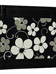 "Black Floral Style Leather 4""*6"" Photo Album(200 Pocket)"