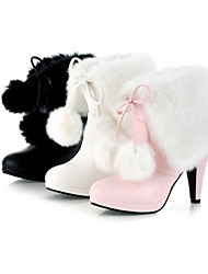 Patent Leather Boots Cone Heel Booties/Ankle Boots(More Colors)