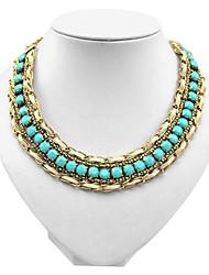 européen collier d'alliage d'or d'É tat (bleu, noir, rose) (1 pc)