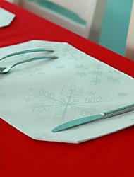 """Set de table élégant, Polyester/Floral/12 """"* 18"""", série de Noël"""