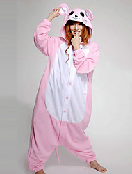 Kigurumi Pajamas Mouse Leotard/Onesie Festival/Holiday Animal Sleepwear Halloween Pink Patchwork Polar Fleece Kigurumi For Unisex