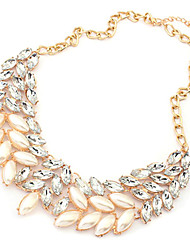 collier de perles de strass or