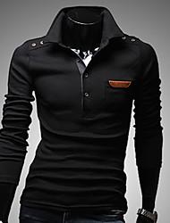 VSKA Men's Vintage Button Long Sleeve Shirt