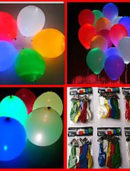 100er 7-Farb-LED-Licht-blinkende Ballone (zufällige Farbe)