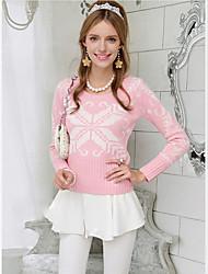 Pink Doll impresión suéter del suéter largo