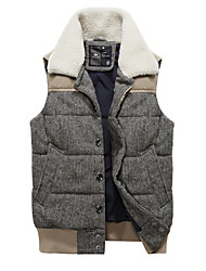 Men's Stand Collar Stitching Fashion Vests