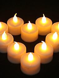 1PCS LED Yellow Candle Shaped Light Party Supply Wedding Decoration(4.5x3.9x3.9cm)