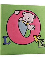 """Grüner Bär Love Style Stoff 4 """"* 6"""" Fotoalbum (200 Tasche)"""