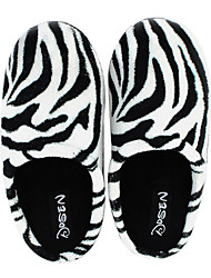 Casual Black and White Fuzzy Couple's Slid Slippers