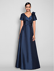 TS Couture® Prom / Formal Evening / Military Ball Dress - Dark Navy Plus Sizes / Petite A-line V-neck Floor-length Taffeta