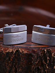 Personalized Gift Squared Engraved Cufflinks