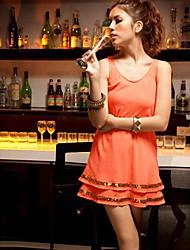 Women's Dresses , Chiffon Sexy/Casual/Cute Fashiongirl