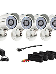 Zmodo® 4 Bullet Outdoor 700TVL Night Vision CCTV Surveillance Security Camera Kit